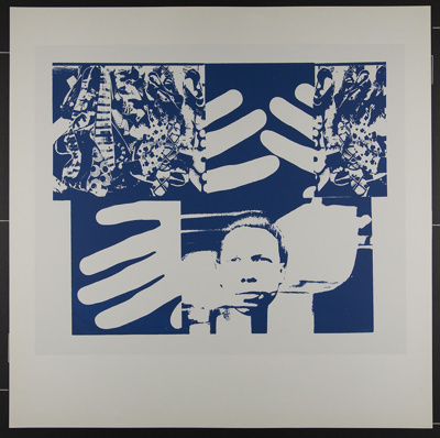 Untitled [Collaged face, hands, and fabrics]; Frost, Gary; 1970; 1972:0096:0004