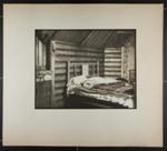 [log bed in log cabin]; Hahn, Alta Ruth; ca.1930; 1982:0020:0020