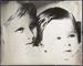 Untitled, [portrait of 2 children].; Wells, Alice; c.a. 1970; 1988:0023:0003