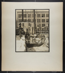 [man on snowy dock with sail boat in the water, New York]; Hahn, Alta Ruth; ca.1930; 1982:0020:0030