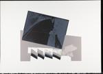 Untitled [Gray, blue, and black]; Wood, John; 1980; 2000:0104:0008