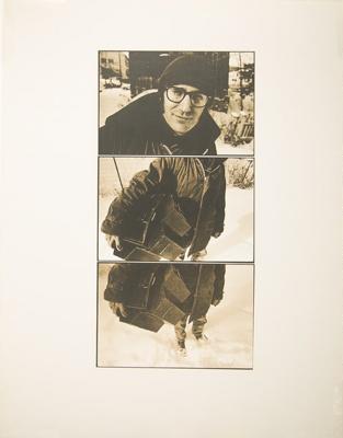 Untitled [Man holding boxes]; Wood, John; ca. 1968-1969; 1975:0012:0026