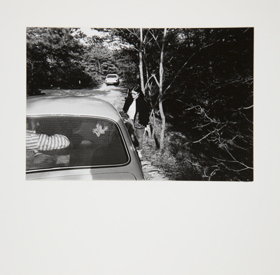 Untitled [Young woman getting into car]; Brese, Denis; 1973; 1973:0061:0002