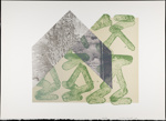 Untitled [Green shapes and plant]; Wood, John; 1980; 2000:0104:0013