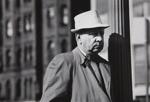 Untitled [Man and streetlight pole]; Margolis, Michael; ca. late 1960s; 1971:0317:0001