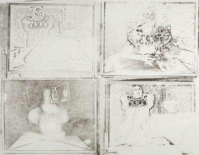 Untitled [Dress, woman, and photographs]; Lyons, Joan; 1974; 1975:0006:0008