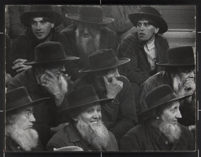 Amish Farmers at Horse Auction, New Holland, PA; Webb, Todd; 1955; 1982:0091:0003
