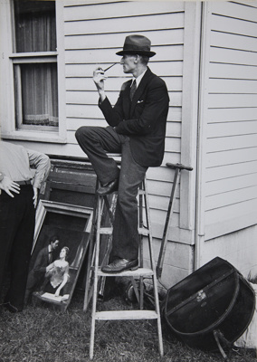 Untitled [Man with pipe]; Lee, Russell; Undated; 1982:0043:0001