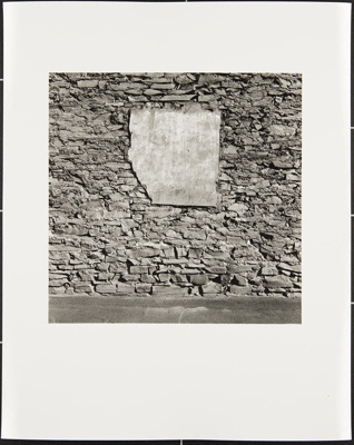 Untitled [Wall with slab]; Cooper, John; ca. 1983; 1983:0016:0013