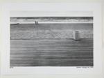 [Empty Boardwalk Scene; Two People Stand on Beach in Distance]; Kuligowski, Eddie; 1973; 1986:0014:0001