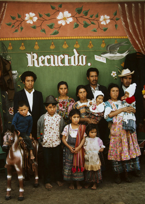 3 Brothers and Their Families, San Cristobal Totonicapan, Guatemala; Parker, Ann; 1972; 2009:0056:0013