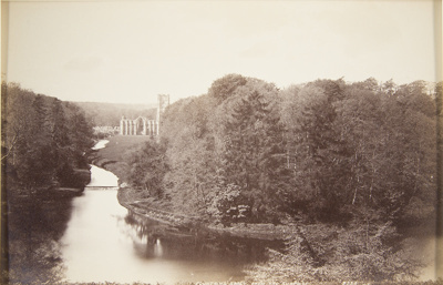 Fountains Abbey From the Surprise; Valentine, James; ca. 1860s; 1993:0019:0054