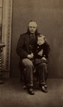 Untitled [Studio portrait of an elderly gentleman holding a young child on his lap]; J. Robertson; ca. 1860; 1975:0031:0298