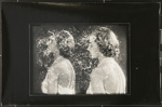 [Untitled, double female portrait from a deteriorated negative]; Wells, Alice; c.a. 1960s; 1988:0026:0015
