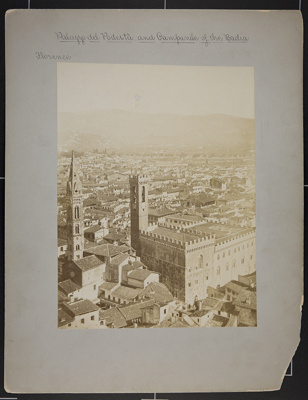 Palazzo del Podestà and Campanile of the Badia; Fratelli Alinari; ca. 1890; 1979:0116:0004