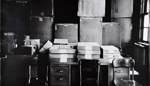Untitled [Archival Boxes in the V.S.W. Storeroom]; Bretz, Robert L.; 1981; 1981:0042:0004