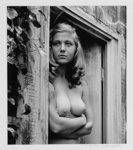 Untitled [Nude woman in window frame]; Colwell, Larry; 1953; 1974:0040:0003