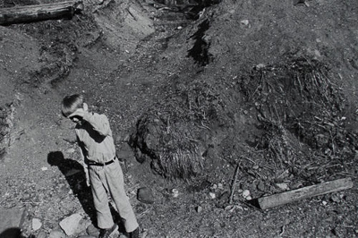Boy in Pit; Cohen, Mark; April 1971; 2000:0099:0001