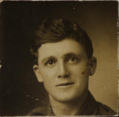 William Agate in military uniform; Agate, William George, 189?-1917; [1915]; 1