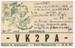 QSL Card, VK2PA; 1947; 2012.11