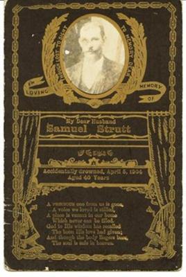 Mourning Card, Samuel Strutt; 1904; 2014.01