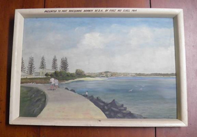 Painting, Port Macquarie Breakwall; Albert C Muller; 1964; 2014.45