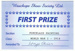 Prize Card, Wauchope Show Society Ltd.; 2014; 2016.47
