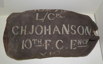 Kit Bag, C H Johanson; 1916; 2015.19