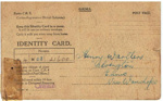 Identity Card, Henry Warlters; 1942; 2014.19