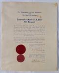 Certificate, Testimonial to Matron Jobson; 1956; 22.83a