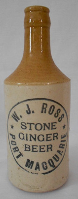 Ginger Beer Bottle, W J Ross; c1918-1920; 2018.14