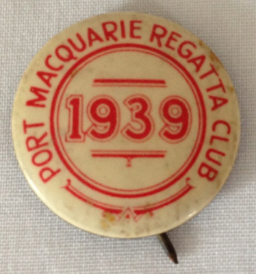 Badge, Port Macquarie Regatta Club; 1939; 2014.28
