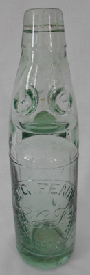 Soda Water Bottle, E G Fenn; 1905-1915; G117