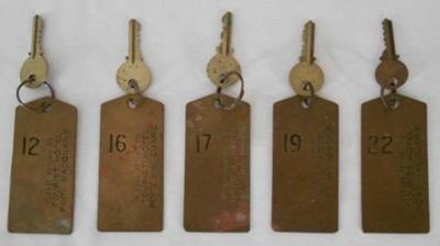 Room Keys; 1960s; 2018.34