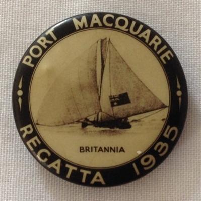 Badge, Port Macquarie Regatta; 1935; 2014.26