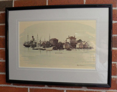Watercolour, The Waterfront; John Parkinson; 2012.83