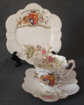 Cup, Saucer & Plate Set, Queen Victoria; Wileman and Co.; 1897; C157