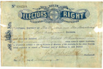 NSW Elector's Right issued to John Robert Wheeldon; W A Gullick; 1901; 2018.21