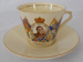Cup and Saucer, Coronation King Edward VIII; Empire Porcelain Co; 1937; 135.93