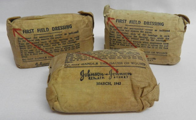 Bandages, First Field Dressing; Johnson & Johnson Pty. Ltd.; 1942; 2017.21