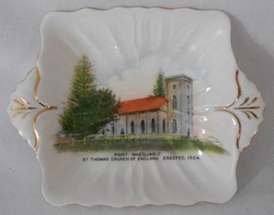 Souvenir Plate, St Thomas Church; Shelley; 1950s; 2018.22