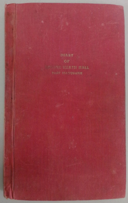 Bound transcript of diary of Robert Heath Hall