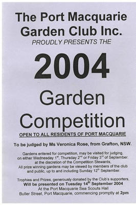 Archives, Port Macquarie Garden Club; 1995-2004; GAR