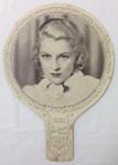 Advertising Fan, Claire Trevor; c1940s; B89.48a