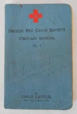 British Red Cross Society First-Aid Manual; Cassell & Company Limited; 1913; B88.41