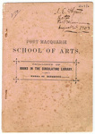 Port Macquarie School of Arts Catalogue of Books in the Circulating Library; 1903; 2170