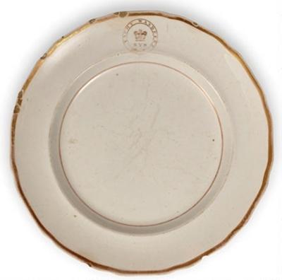 Plate from Ben Boyd's schooner Wanderer; c1841; 5477