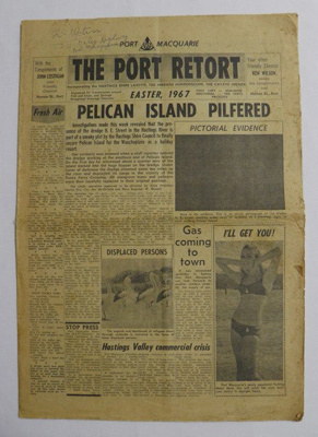 Newspaper, The Port Retort; Port Macquarie Apex Club; Manning River Times; 1967; 2017.56