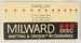 Sign, Milward Knitting & Crochet Accessories; c1970s; 2014.32