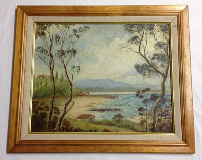 Painting, The Bar Port Macquarie; 1940; 2014.76